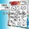 Rubber Dance - A5 / LOOSE FLORALS 1 - cling gumové razítko bez pěny