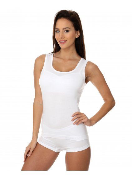 Brubeck dámské tričko bez rukávů Comfort Cotton (Barva Bílá, Velikost XL)