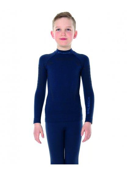 Junior chlapecké tričko s dlouhým rukávem (Barva Tmavě modrá, Velikost 152/158)