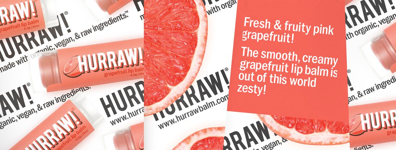 Hurraw balzám na rty grapefruit