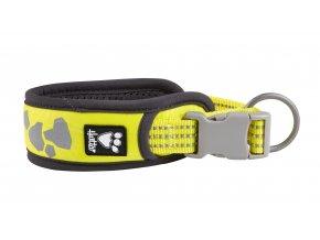 Hurtta Weekend Warrior collar neon lemon