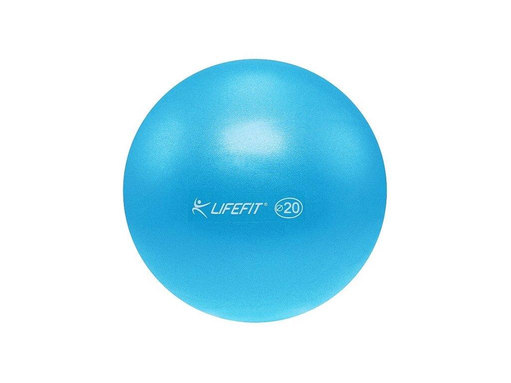 Míč OVERBALL LIFEFIT 20 cm, světle modrý