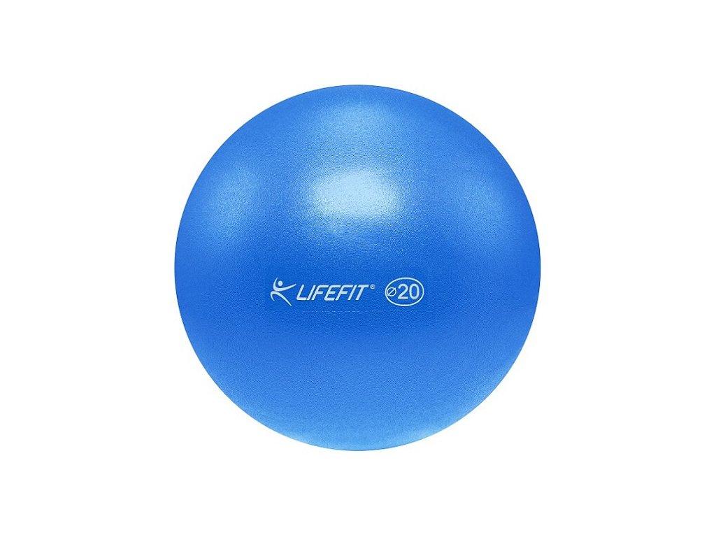 Míč OVERBALL LIFEFIT 20 cm, modrý