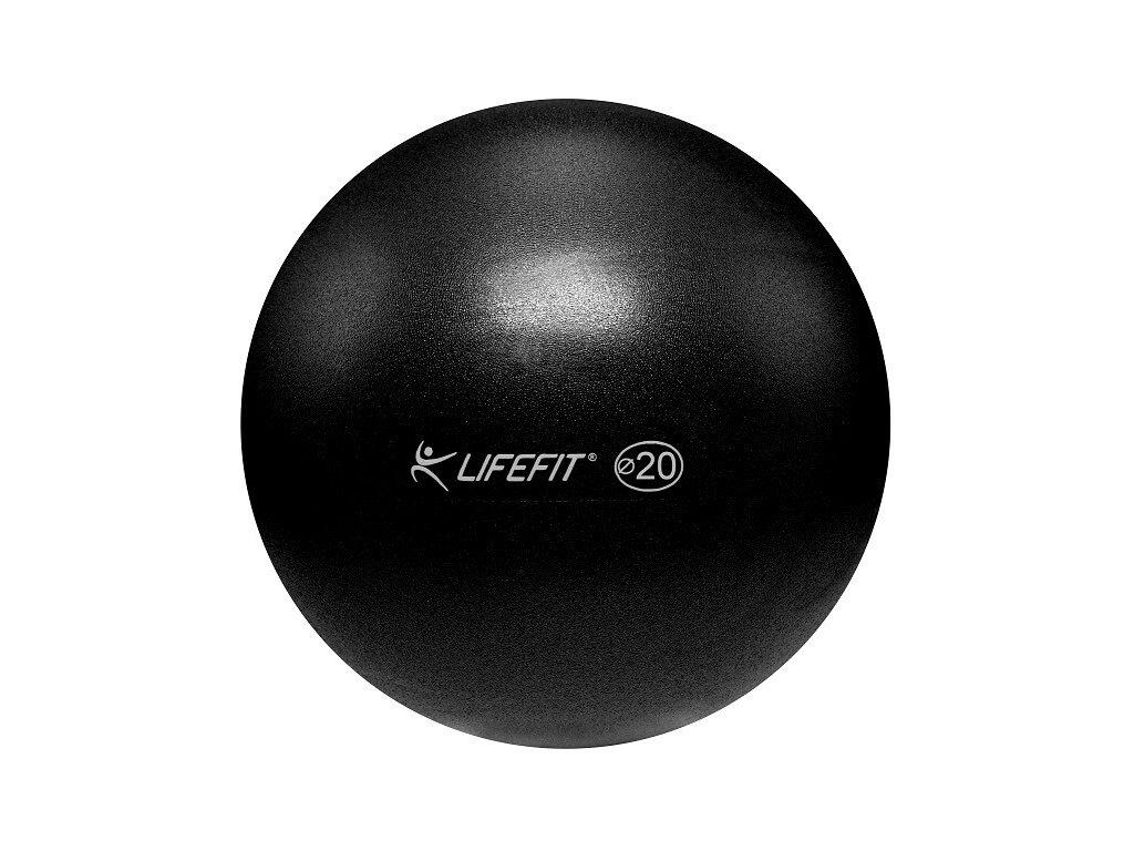 Míč OVERBALL LIFEFIT 20 cm, černý