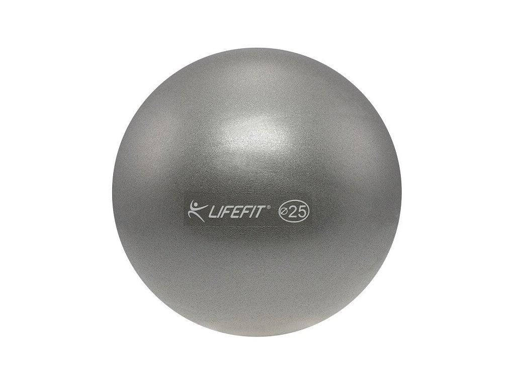 Míč OVERBALL LIFEFIT 25 cm, stříbrný
