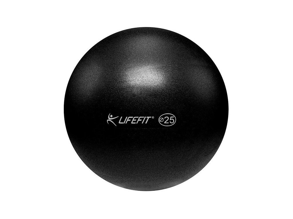 Míč OVERBALL LIFEFIT 25 cm, černý