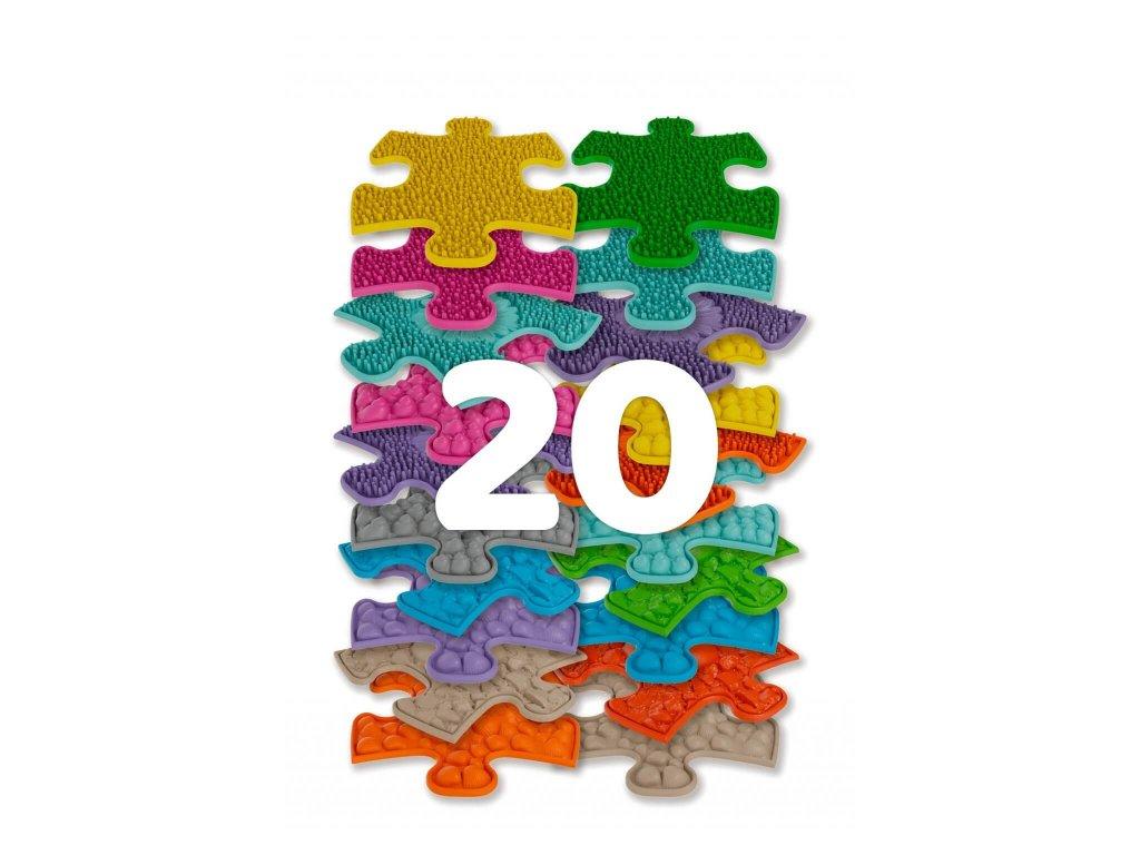 Muffik Set ortopedických podlah Mini Puzzle, 20 ks
