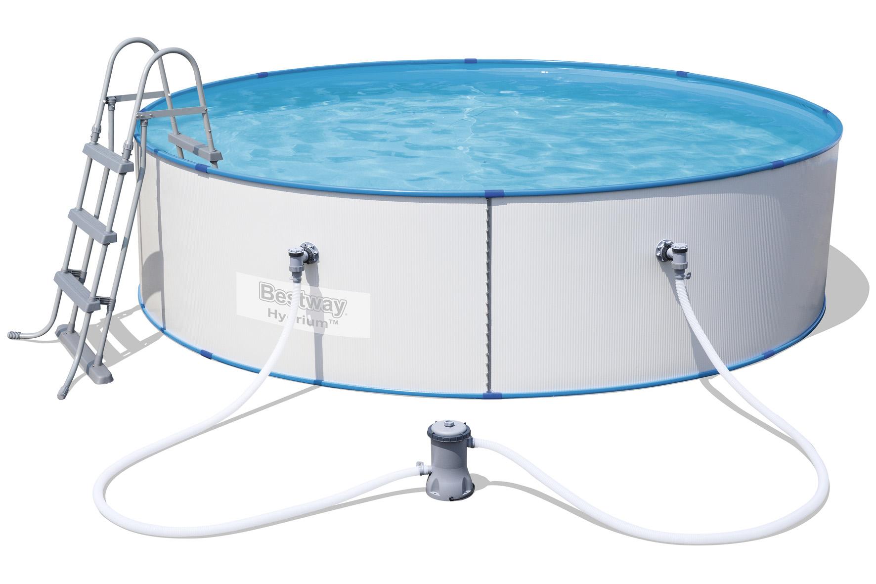 Bazény s plechovou stěnou