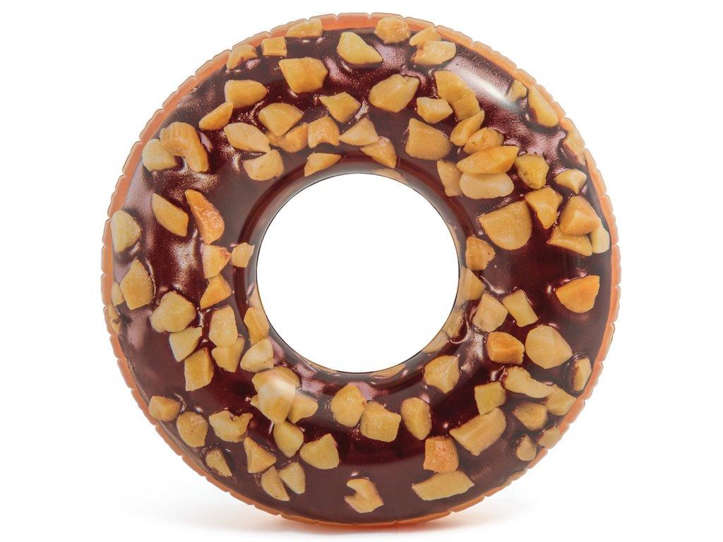 Nafukovací čokoládový 114 cm donut real potisk