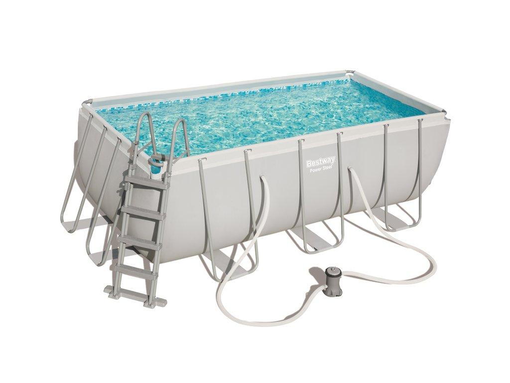 Bazén s konstrukcí 412 x 201 x 122 cm se schůdky a filtrací 2006 l/h