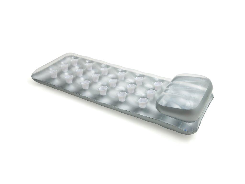 Nafukovací matrace stříbrná kalíšková