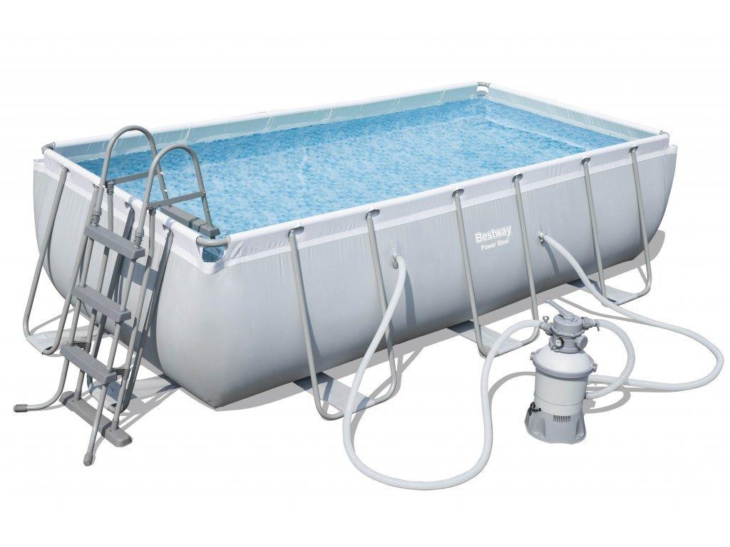 Bazén s konstrukcí 404 x 201 x 100 cm se schůdky a pískovou filtrací