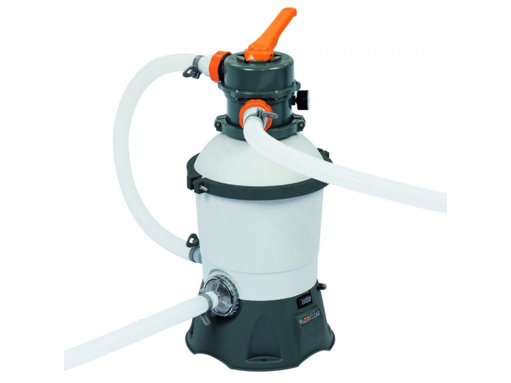Písková filtrace BESTWAY STANDARD PLUS 3.028 l/h (2.271 l/h)  + ZDARMA Jednorázová rouška 25 ks v hodnotě 123 Kč