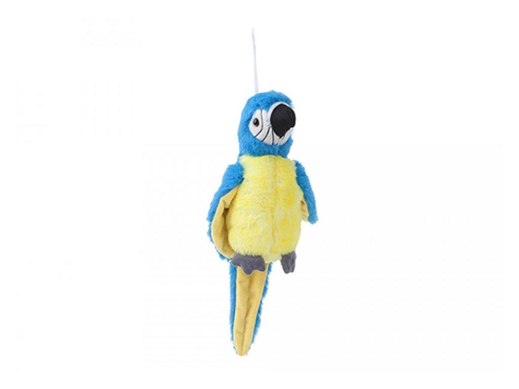 6686 plys papousek modry 19cm