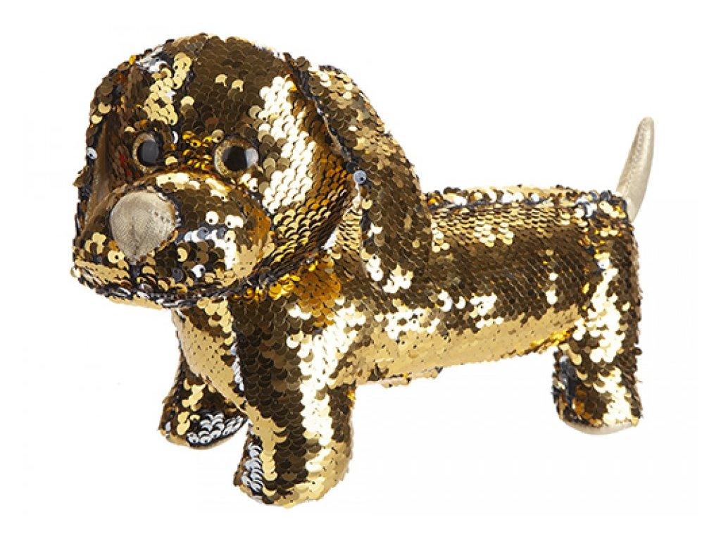 6701 plys pes jezevcik 28cm