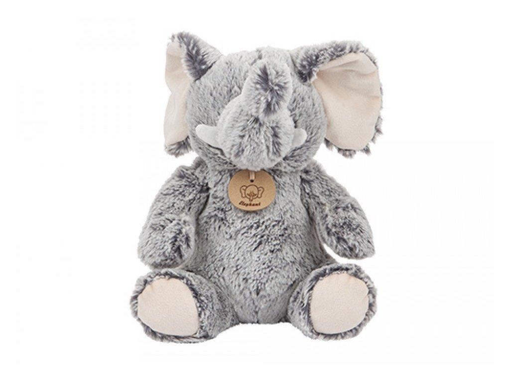 5978 plys slon s kartou puvodu 2 barevny 23cm