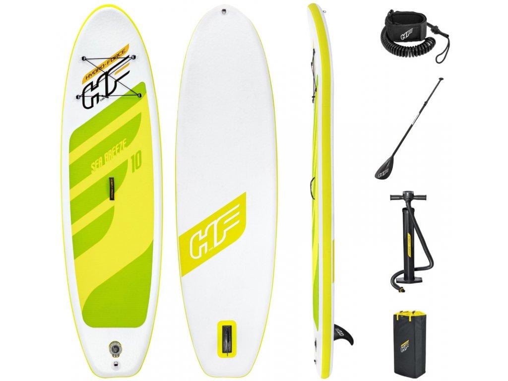 Paddleboard BREEZE set s pádlem, ruční pumpou a taškou