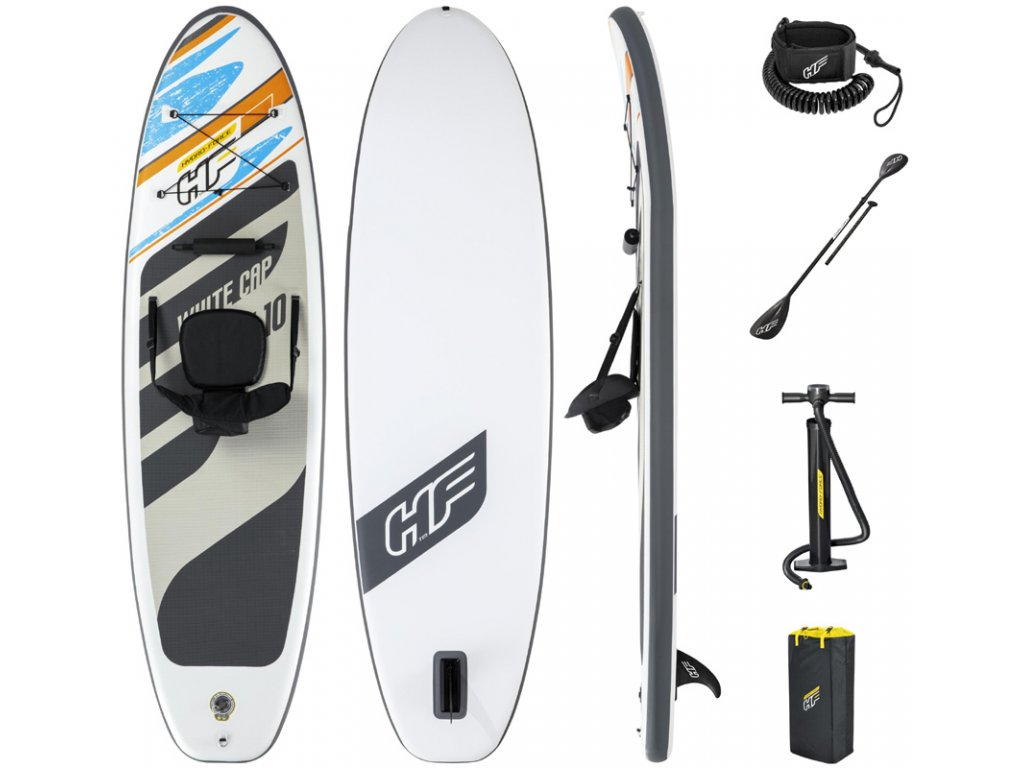 Paddleboard WHITE CAP set sedačkou, pádlem, ruční pumpou a taškou
