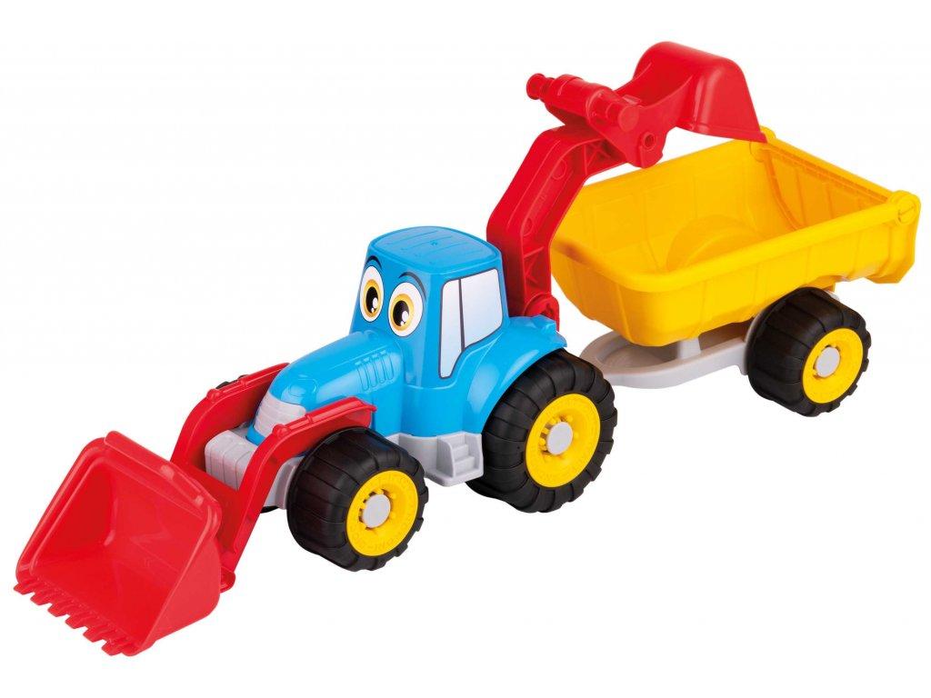Traktor s očima - s vlekem, radlicí a lžící