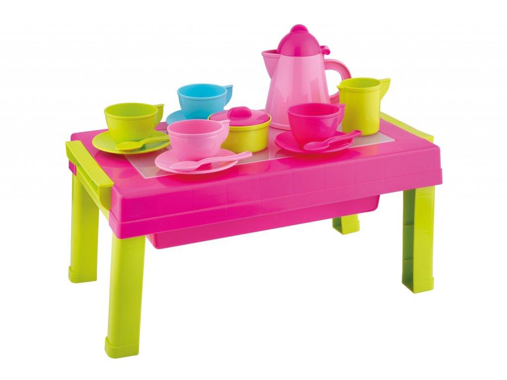 Nádobí čajová souprava se stolečkem