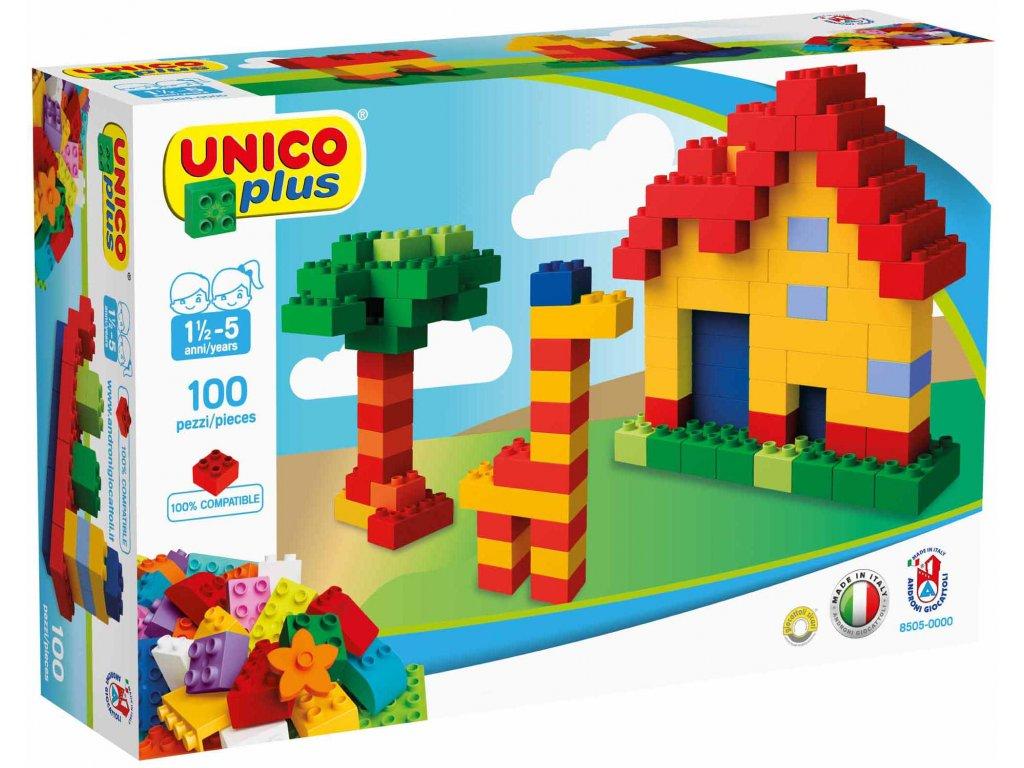 Stavebnice Unico Plus 100 ks kostiček v krabici