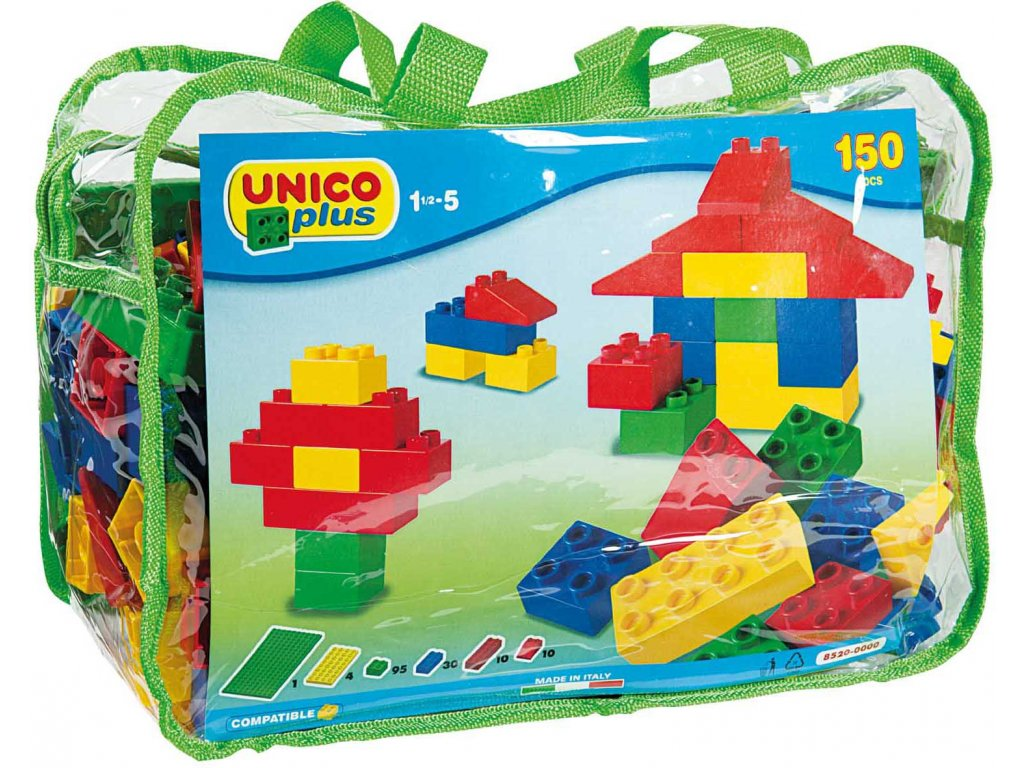Stavebnice Unico Plus 150 ks kostiček v tašce