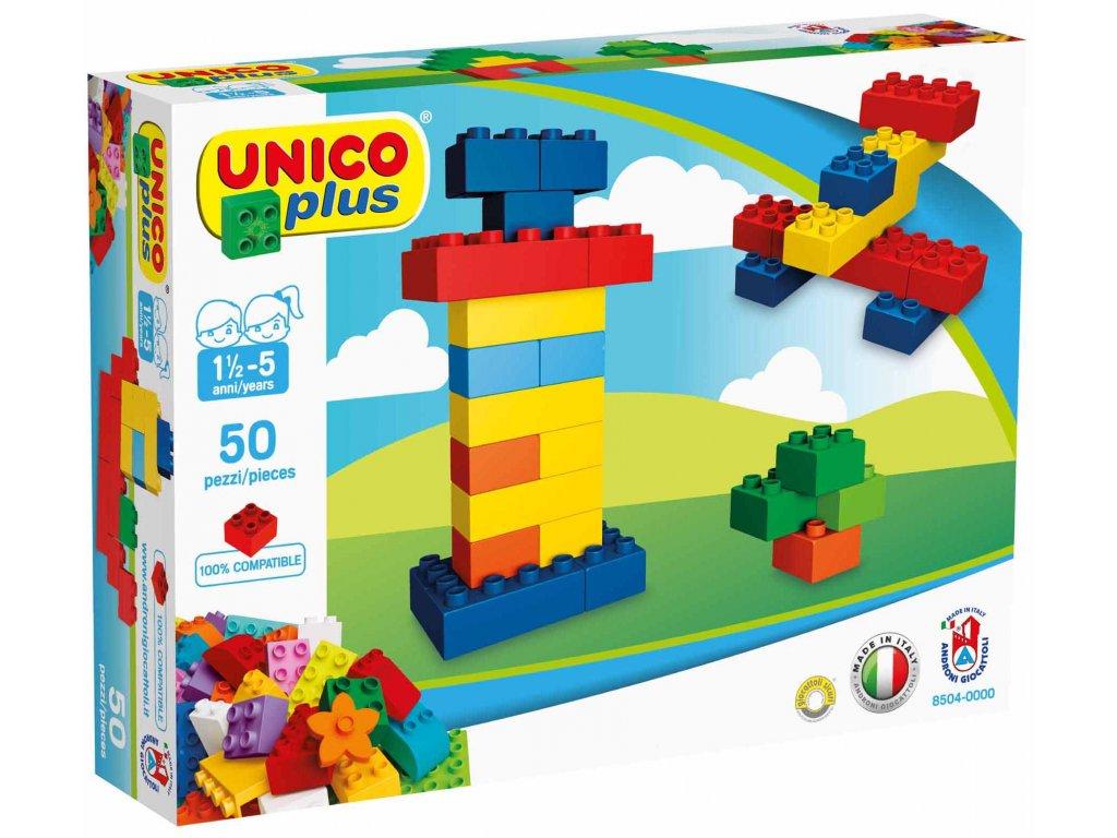 Stavebnice Unico Plus 50 ks kostiček v krabici
