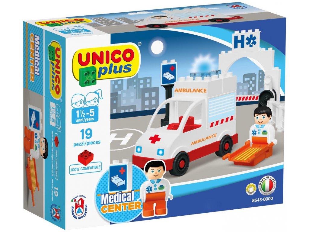 Stavebnice Unico Plus Ambulance 19 ks
