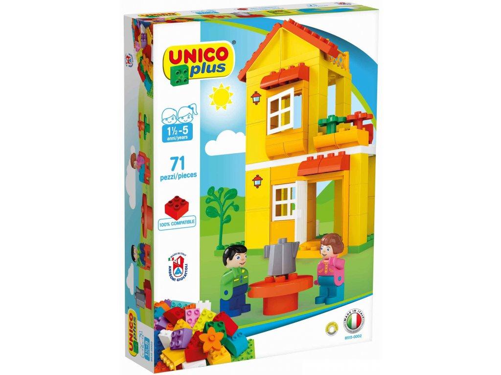 Stavebnice Unico Plus Domeček 71 ks