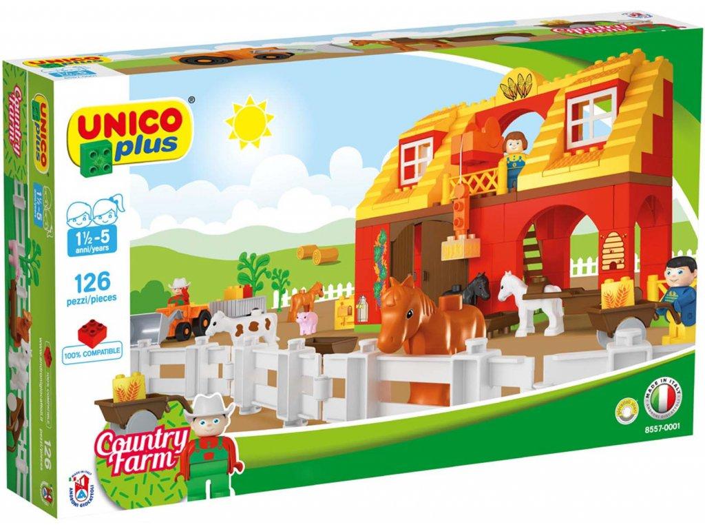 Stavebnice Unico Plus Farma 126 ks