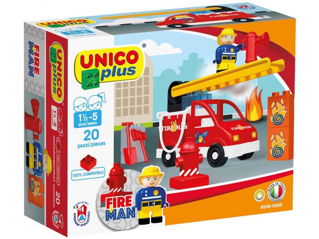 Stavebnice Unico Plus Hasiči 20 ks