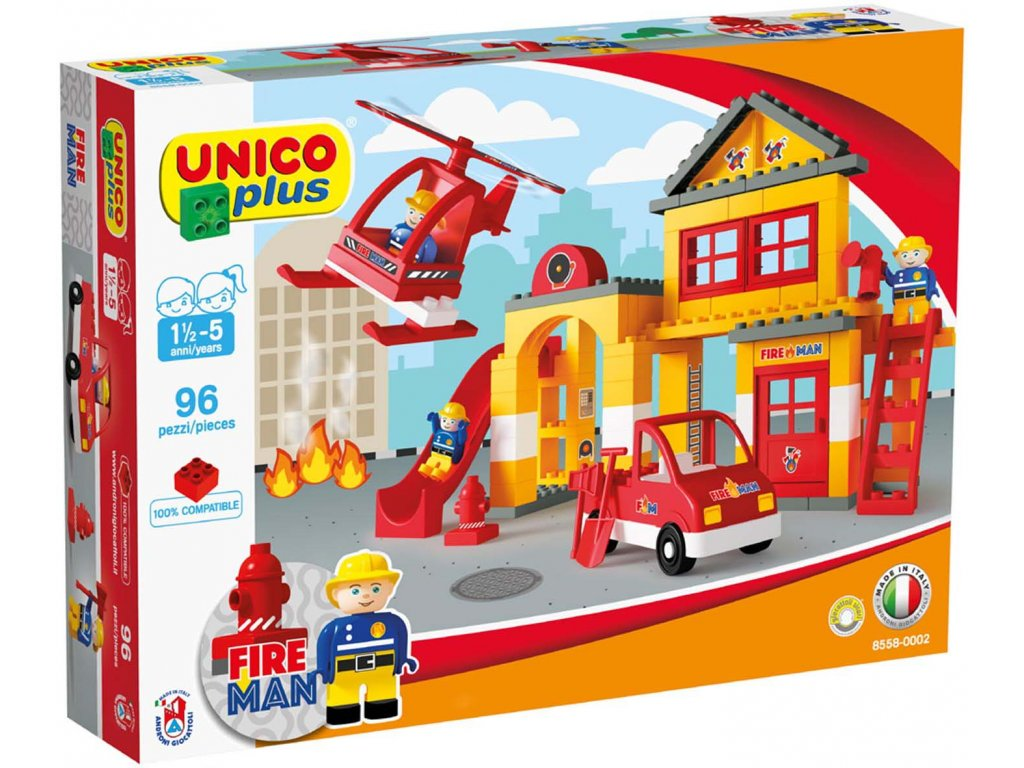 Stavebnice Unico Plus Hasiči 96 ks