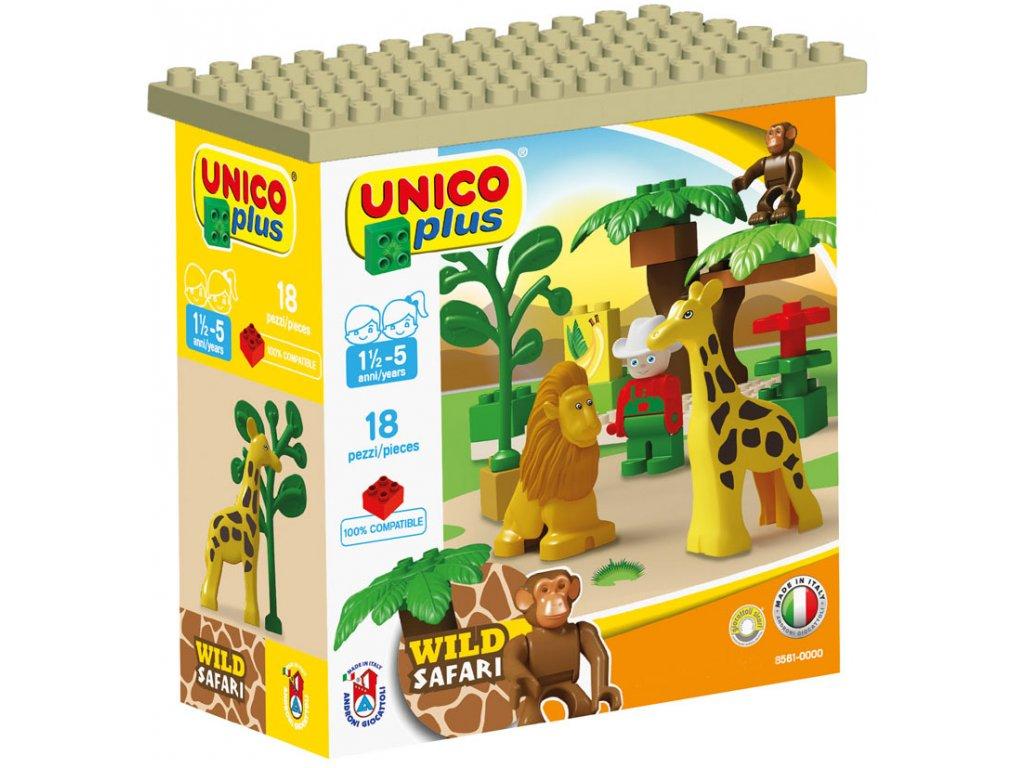 Stavebnice Unico Plus Safari 18 ks