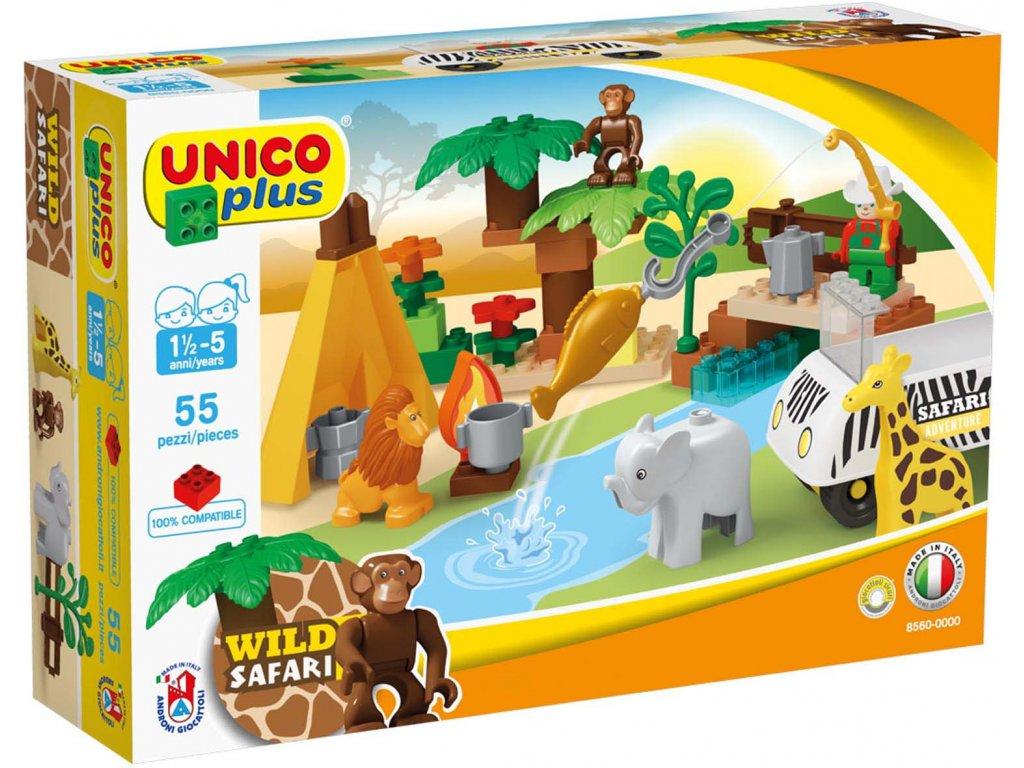 Stavebnice Unico Plus Safari 55 ks