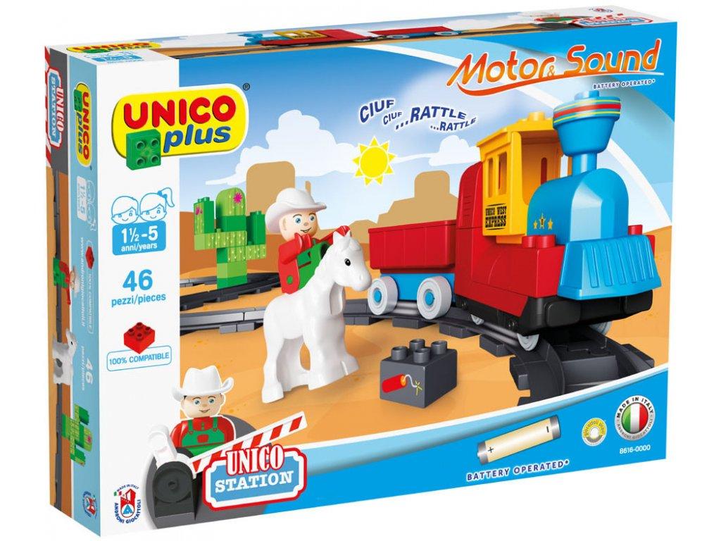 Stavebnice Unico Plus Vlak a koleje 46 ks