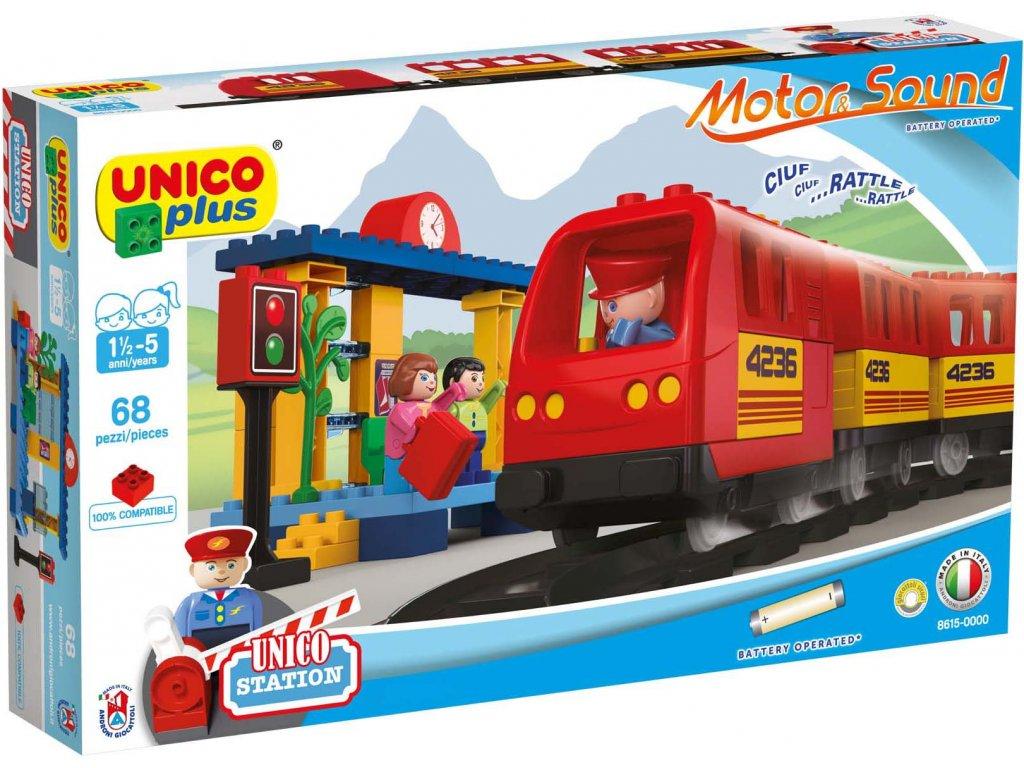 Stavebnice Unico Plus Vlak a koleje 68 ks