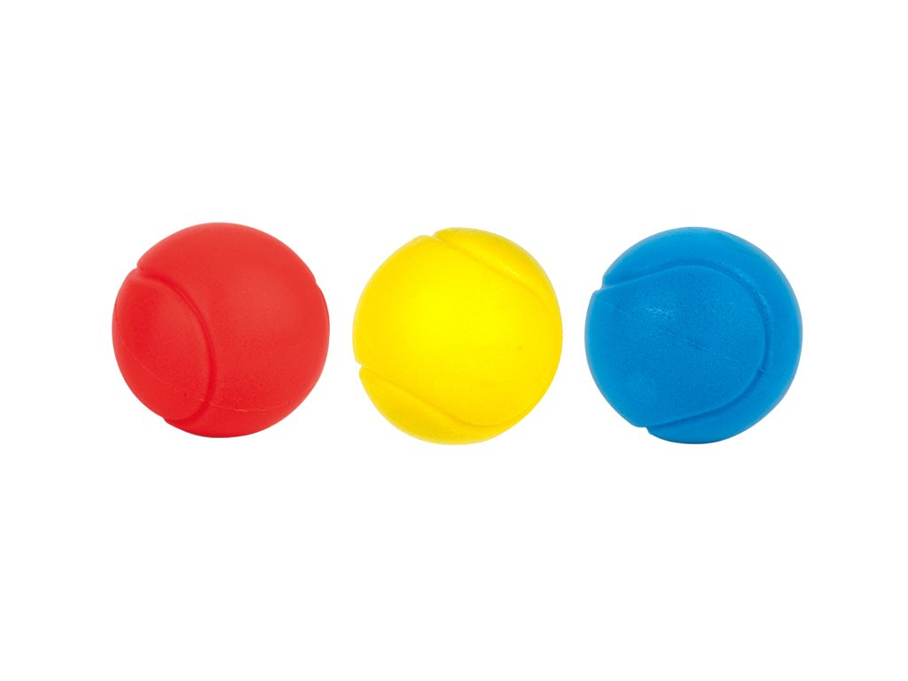 Soft-tenisové tvrzené barevné míčky 3ks