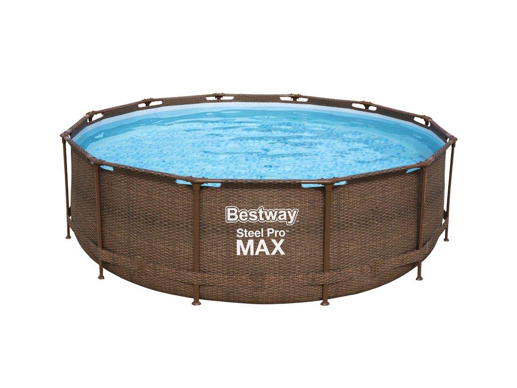 Bazén s konstrukcí rattan 366 x 100 cm