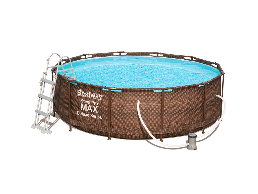 Bazén s konstrukcí rattan 366 x 100 cm se schůdky a filtrací