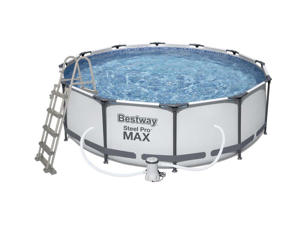 Bazén s konstrukcí 457 x 122 cm se schůdky a filtrací  + ZDARMA Jednorázová chirurgická rouška 50 ks v hodnotě 195 Kč