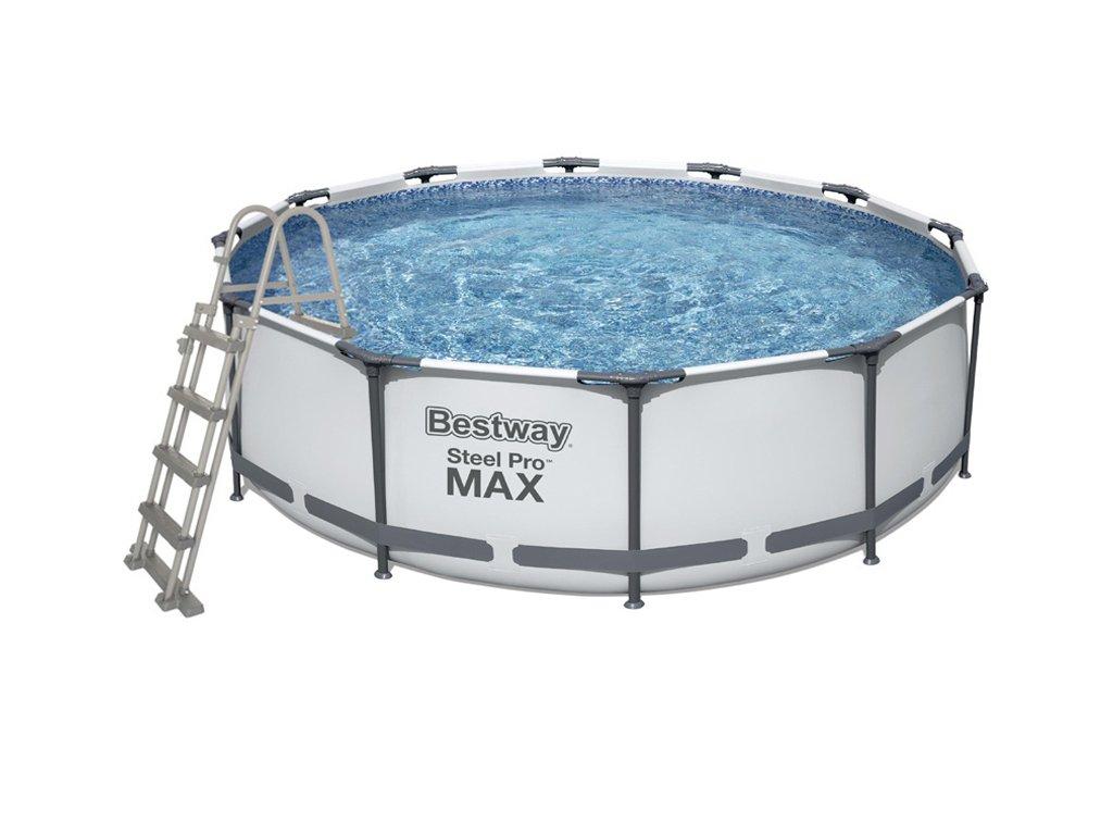 Bazén s konstrukcí 457 x 122 cm se schůdky