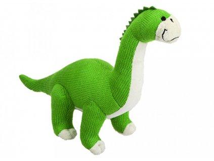 6002 1 plys dinosaurus pleteny zeleny 29cm