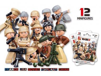 Figurky vojáci 12 druhů v neprůhledném sáčku