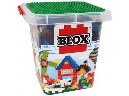 Stavebnice Blox 500 ks kostiček v plastovém kyblíčku