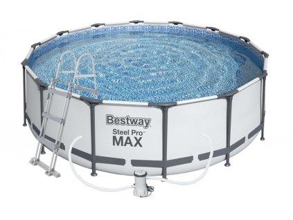 Bazén s konstrukcí 366 x 100 cm se schůdky a filtrací  + 25 ks ochranných roušek v hodnotě 450,-Kč