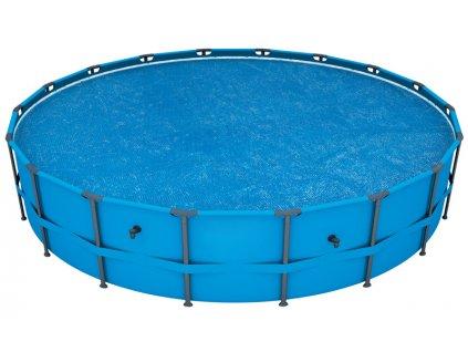 Solární plachta na bazén s konstrukcí 457 cm