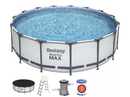 Bazén s konstrukcí 457 x 122 cm se schůdky a filtrací