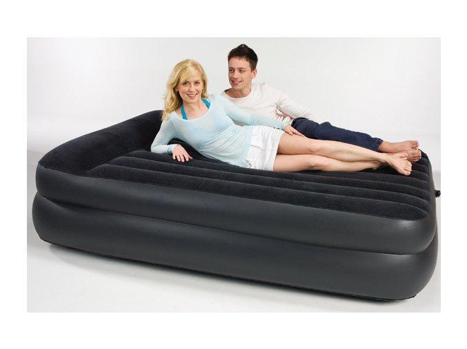 Nafukovací postel vysoká + přenosná elektrická pumpa 220-240 V