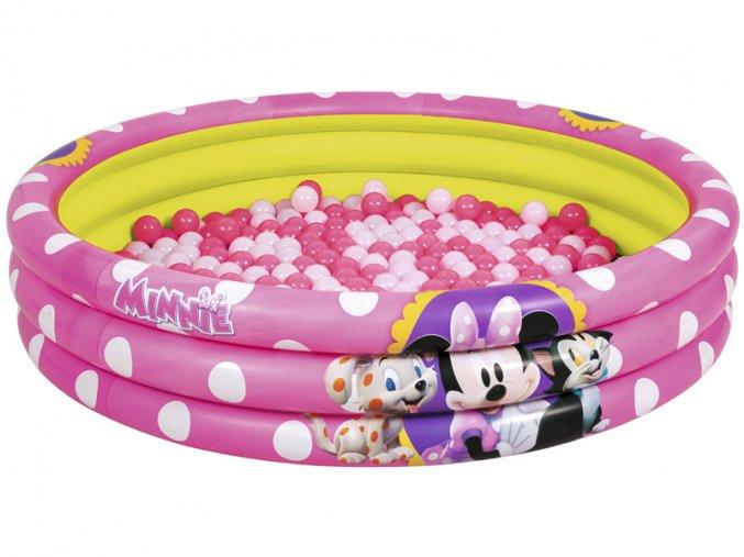 Nafukovací bazén Minnie 122 x 25 cm + 75 ks míčků
