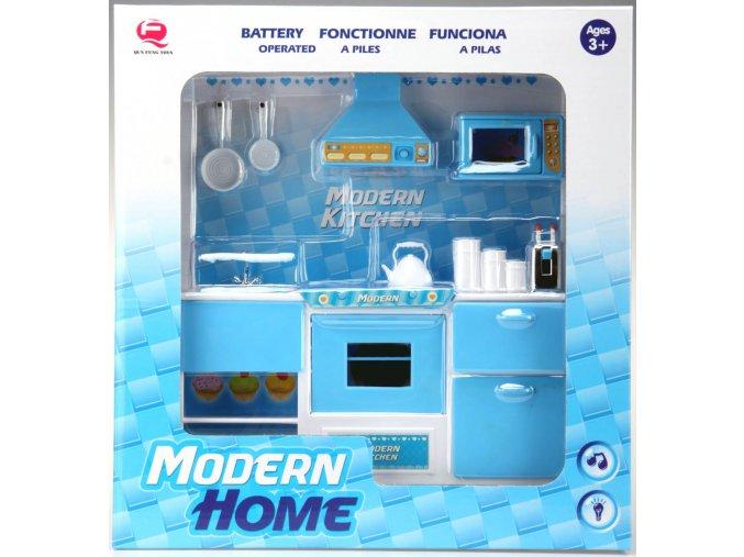 Kuchyňka pro panenky 1-dílná modrá